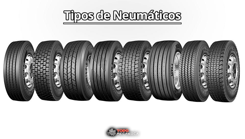 Distintos tipos de neumáticos