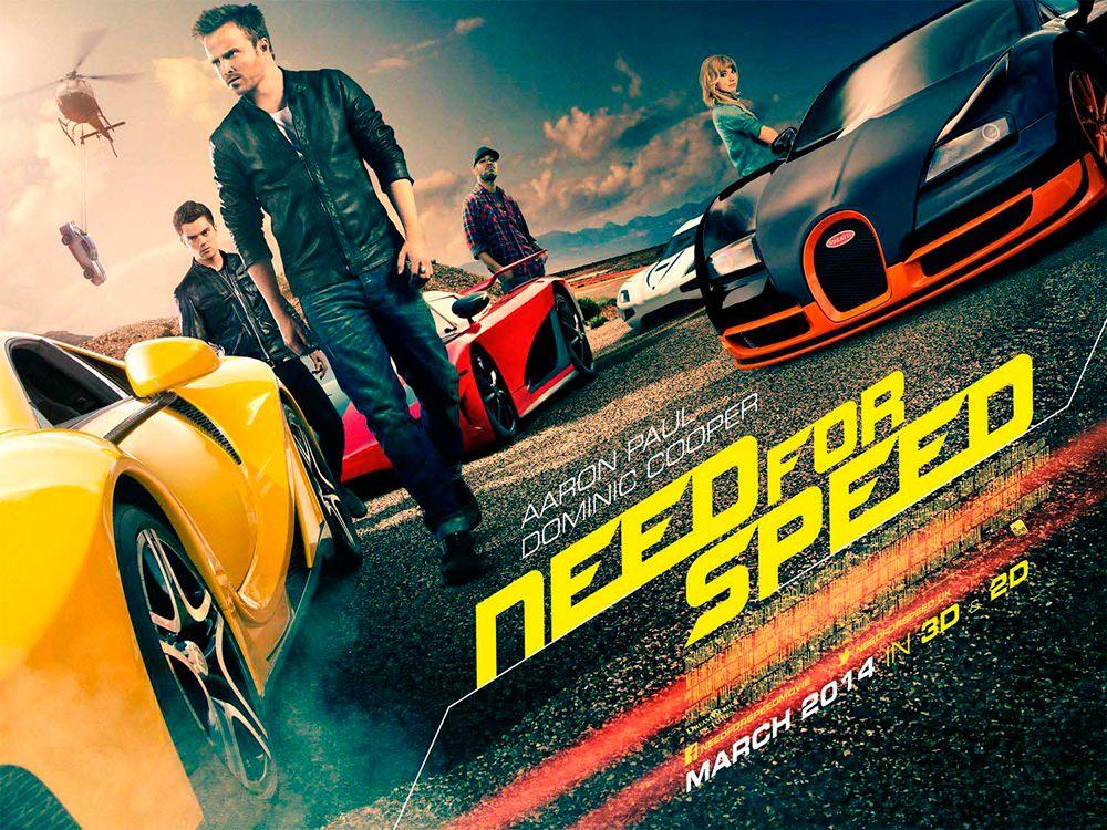 Imágen de cartelera de la película Need for Speed