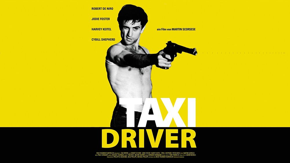 Imagen para la publicidad de la película Taxi Driver