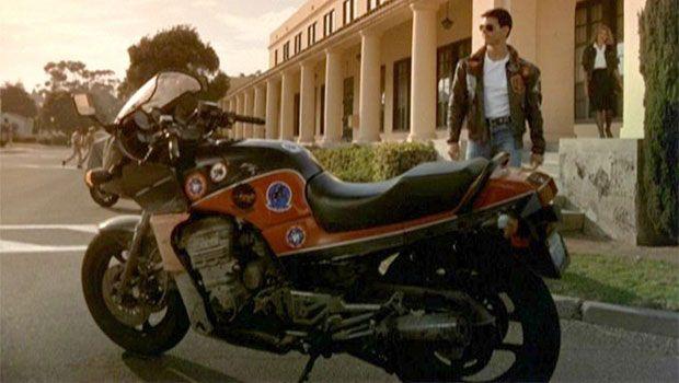 Moto Kawasaki GPZ 900 R de la película Top Gun