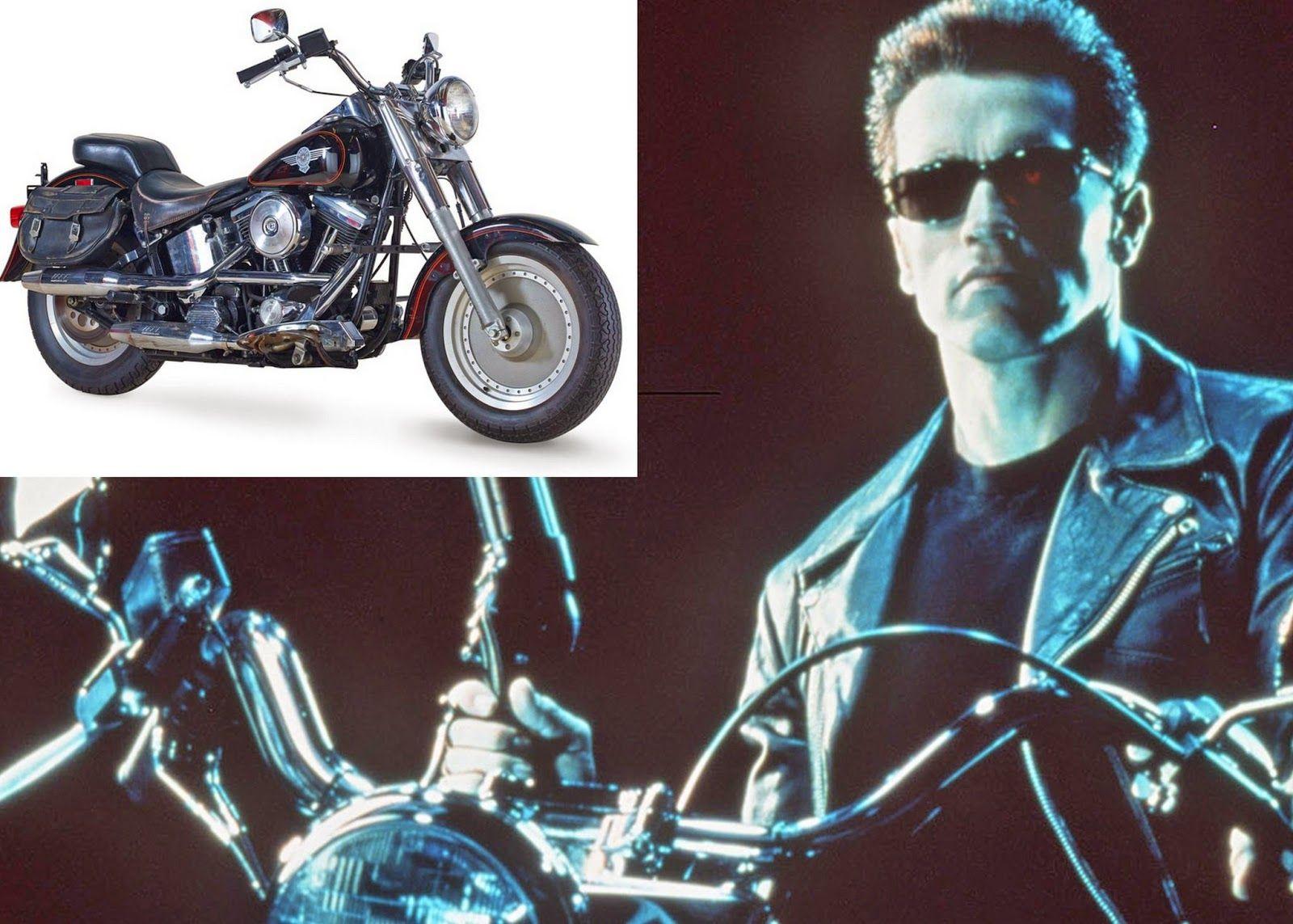 Moto Harley Davidson Far Boy FLSTF de la película Terminator 2: El día del juicio