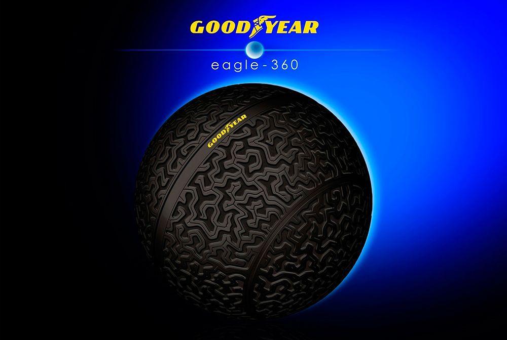 Rueda GoodYear Eagle 360, rueda totalmente redonda de 360 grados