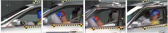 Secuencia de funcionamiento de un airbag frontal