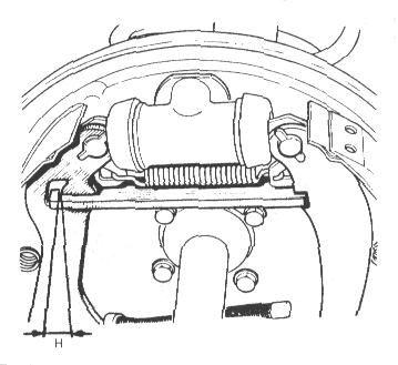Verificación del sistema de reglaje automático de aproximación de las zapatas.