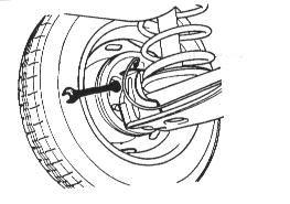 Reglaje de aproximación de zapatas en los frenos convencionales de tambor.